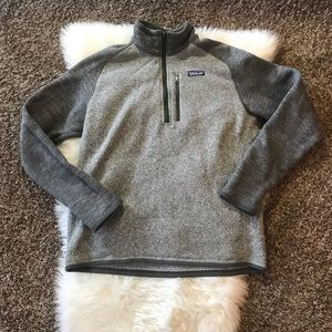 Mens Patagonia Better Sweater Quarter Zip Pullover